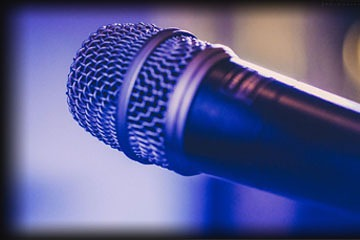 close up of Debbie's mic at a wedding in Solihull